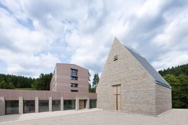 Architekturaufnahme des Exertitienhauses der Architekten Brückner + Brückner. Feigfotodesign