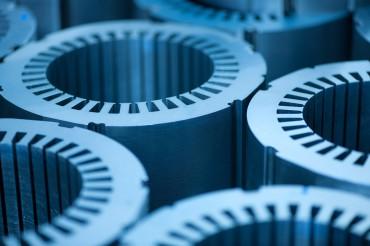 Industriefotografie Detailaufnahme Elektromotoren rund. Feigfotodesign