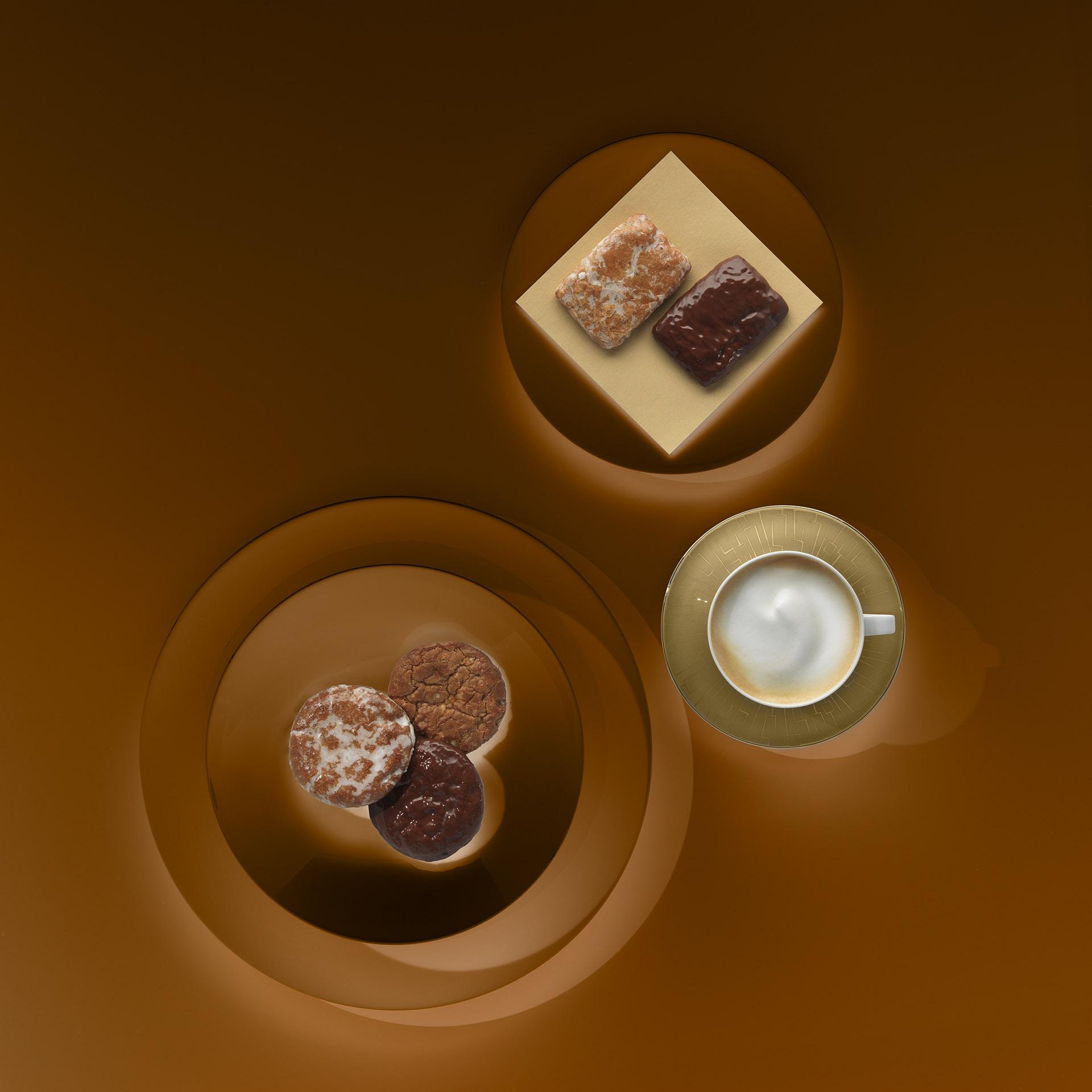 Imageaufnahme für Leupoldt Lebkuchen mit Lebkuchenvariation und Kaffee. Feigfotodesign