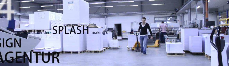Screenshot von YouTube Video zeigt Making Of in Druckerei. Feigefotodesign