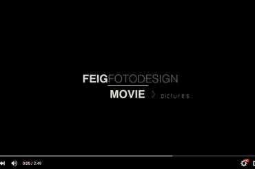 "Screenshot eines YouTube Videos mit dem Inhalt ""Feig Fotodesign movie > pictures"""