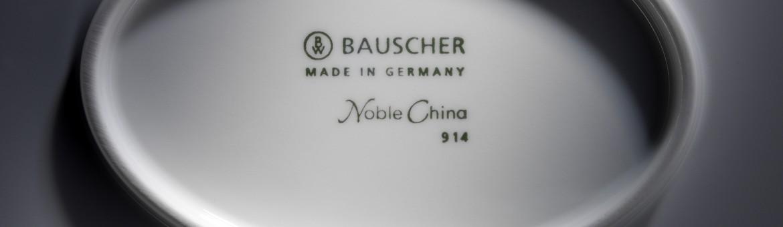 Werbefotografie Fotostudio Oberfranken Close Up des Markenstempels mit Logo von Bauscher Porzellan. Feigefotodesign