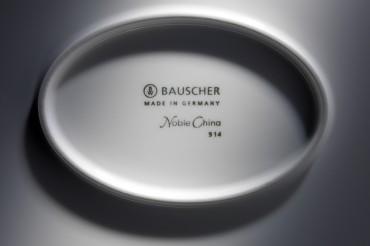Werbefotografie Close Up des Markenstempels mit Logo von Bauscher Porzellan. Feigefotodesign