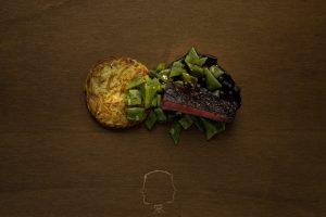 Filet mit Rösti und Gemüse von Koch Theodor Rupprecht. Feigefotodesign