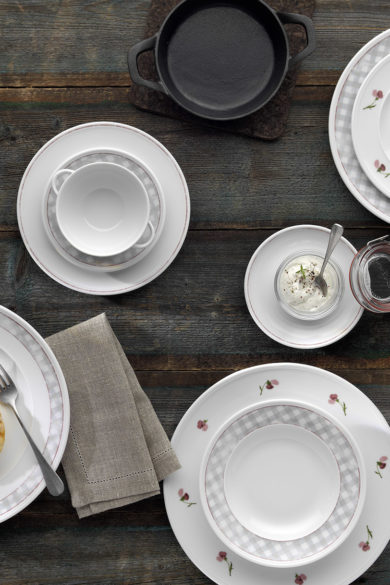 Porzellan der serie come4table der firma bauscher