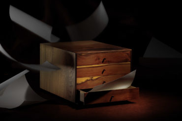schubladenbox aus massiven holz